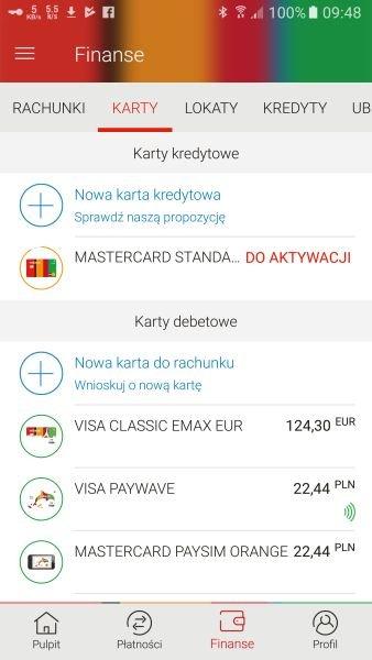 Aktywacja karty płatniczej