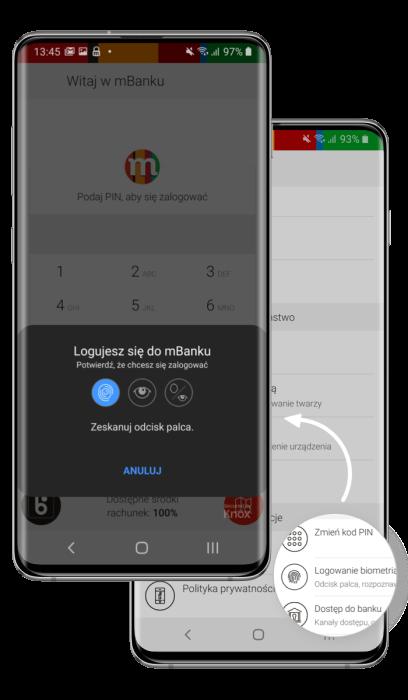 Graf. Logowanie twarzą aplikacji mobilnej